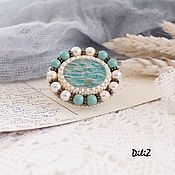 Украшения handmade. Livemaster - original item Brooch with Amazonite. Handmade.