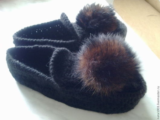 Обувь ручной работы. Ярмарка Мастеров - ручная работа. Купить вязаные тапочки-мокасины. Handmade. Вязаные тапочки, домашние тапочки