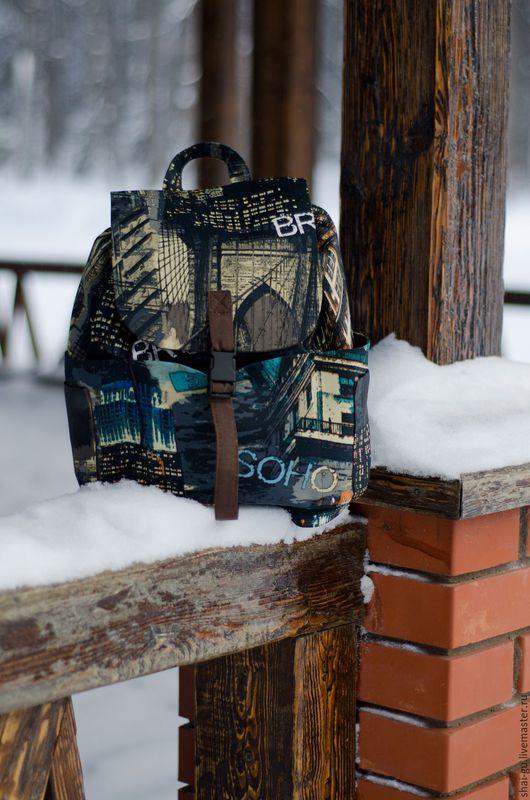 """Рюкзаки ручной работы. Ярмарка Мастеров - ручная работа. Купить рюкзак женский из ткани """"Манхэттен"""". Handmade. Разноцветный, хлопковая ткань"""