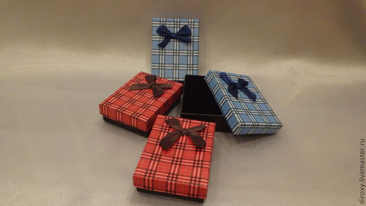 Упаковка ручной работы. Ярмарка Мастеров - ручная работа. Купить Коробочки подарочные под комплект (клетка+бантик). Handmade. Коробка