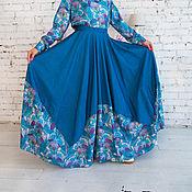 Одежда ручной работы. Ярмарка Мастеров - ручная работа Юбка джинсовая длинная в пол. Handmade.