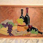 """Картины и панно ручной работы. Ярмарка Мастеров - ручная работа Натюрморт """"Вино и виноград"""". Handmade."""