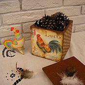 """Для дома и интерьера ручной работы. Ярмарка Мастеров - ручная работа короб""""Галльский петушок"""". Handmade."""