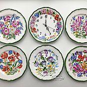 Посуда handmade. Livemaster - original item Painted porcelain Plates on the wall Floral. Handmade.