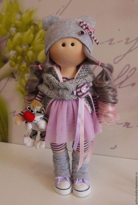 Коллекционные куклы ручной работы. Ярмарка Мастеров - ручная работа. Купить Текстильная куколка-малышка Моя Мышка. Handmade. Серый
