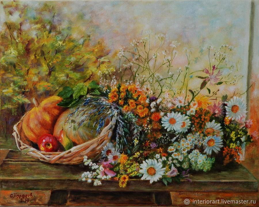 """Картина маслом """"Осенний натюрморт"""" живопись, Картины, Великий Новгород,  Фото №1"""