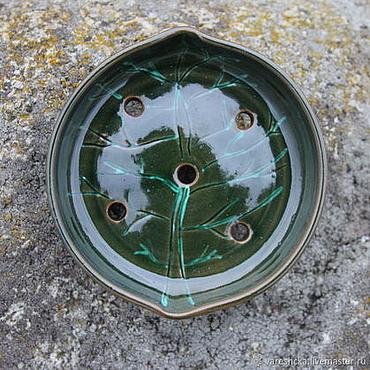 Для дома и интерьера ручной работы. Ярмарка Мастеров - ручная работа Мыльница Зеленые дерева. Handmade.