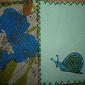 """Канцелярские товары ручной работы. Ярмарка Мастеров - ручная работа Кожаная обложка """"Улитка"""". Handmade."""