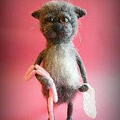 Куклы и игрушки handmade. Livemaster - original item Cat felted sausages in the bag. Handmade.