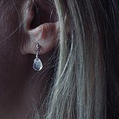 Украшения handmade. Livemaster - original item Moonstone Stud Earrings. Handmade.