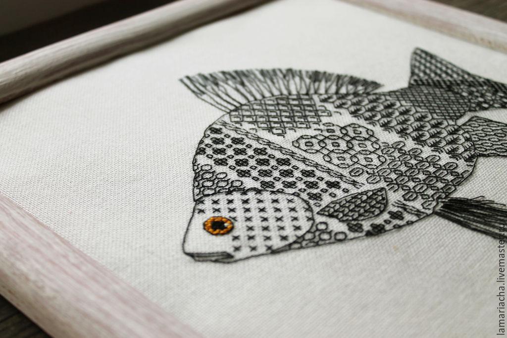 Схема вышивки блэкворк