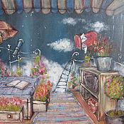 """Картины и панно ручной работы. Ярмарка Мастеров - ручная работа Картина """"Балкон"""". Handmade."""