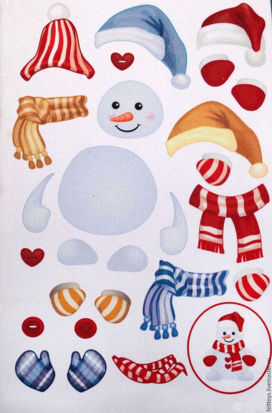"""Развивающие игрушки ручной работы. Ярмарка Мастеров - ручная работа. Купить Набор для игры на фланелеграфе """"Снеговик"""". Handmade. Фетр, развивашка"""