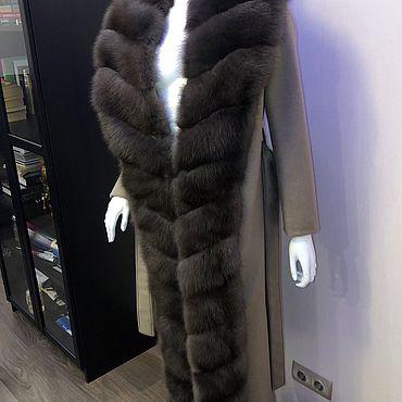 Одежда ручной работы. Ярмарка Мастеров - ручная работа Пальто с мехом куницы. Handmade.