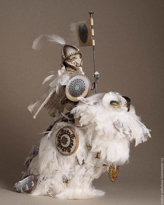 Коллекционные куклы ручной работы. Ярмарка Мастеров - ручная работа. Купить Ночной дозор. Handmade. Белый, защитник, бархат