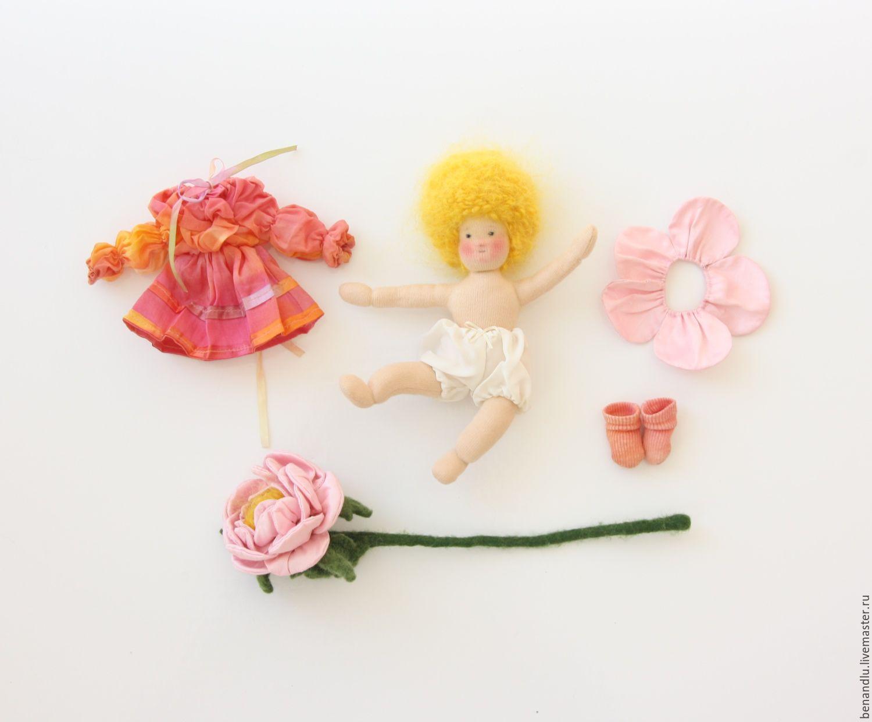 Розочка. Вальдорфская куколка маленькая игровая подвижная, Вальдорфские куклы и звери, Санкт-Петербург,  Фото №1