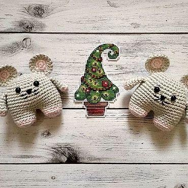 Куклы и игрушки ручной работы. Ярмарка Мастеров - ручная работа Мышка-брелок. Handmade.