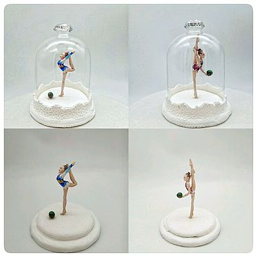 Куклы и игрушки ручной работы. Ярмарка Мастеров - ручная работа Фигурки гимнасток по фото под стеклом, подарки тренеру. Handmade.
