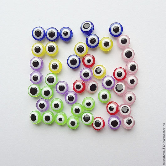 Куклы и игрушки ручной работы. Ярмарка Мастеров - ручная работа. Купить Глаза для игрушек бусинки 8мм разноцветные. Handmade. Черный