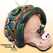 Сувениры и подарки handmade. Livemaster - original item Snail glazed ceramic bell. Handmade.
