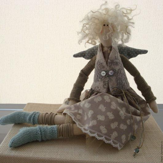 Куклы Тильды ручной работы. Ярмарка Мастеров - ручная работа. Купить Сердечный ангел-1. Handmade. Бежевый, кукла Тильда