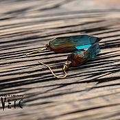 Серьги классические ручной работы. Ярмарка Мастеров - ручная работа Серьги из тисовой древесины. Handmade.