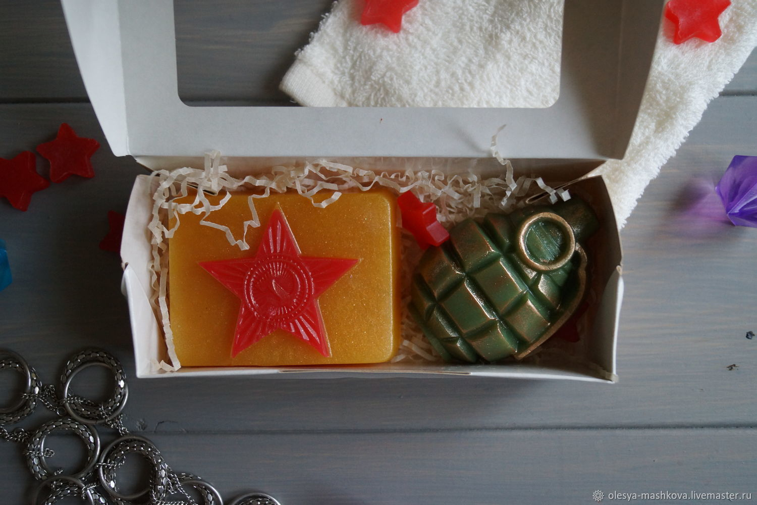 Soap set For men (pomegranate and plaque), Cosmetics2, Moscow,  Фото №1