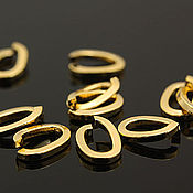 Материалы для творчества handmade. Livemaster - original item 1 PCs. Ring connector OVAL 7H5 mm gold plated Yu. Korea (3629). Handmade.