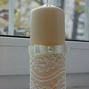 Свадебный салон ручной работы. Ярмарка Мастеров - ручная работа Свадебные свечи семейный очаг. Handmade.