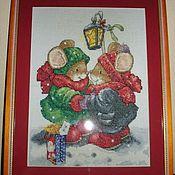 Картины и панно ручной работы. Ярмарка Мастеров - ручная работа Влюбленные мышки. Handmade.