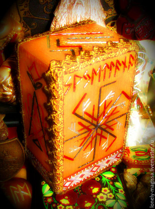 """Обереги, талисманы, амулеты ручной работы. Ярмарка Мастеров - ручная работа. Купить Куб-Стелла """"ОldWizard-Старый Волшебник"""",рунический артефакт. Handmade."""