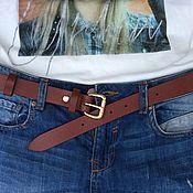 Straps handmade. Livemaster - original item Straps: leather belt. Handmade.