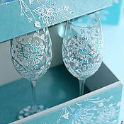 """Свадебный салон ручной работы. Ярмарка Мастеров - ручная работа Свадебные бокалы """"Тиффани"""". Handmade."""