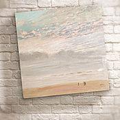 Картины и панно ручной работы. Ярмарка Мастеров - ручная работа картина акрилом Be Happy... (море, небо, лето, нежность). Handmade.