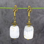 Украшения handmade. Livemaster - original item Natural agate stone earrings. Handmade.