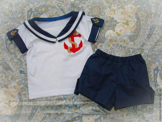 """Одежда для мальчиков, ручной работы. Ярмарка Мастеров - ручная работа. Купить Костюм для мальчика """"Мой морячок"""" от Делавьи. Handmade. Рисунок"""