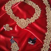 Одежда ручной работы. Ярмарка Мастеров - ручная работа Золотые кружева. Handmade.