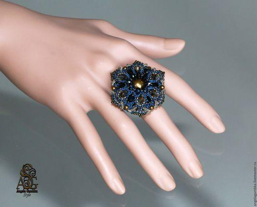 """Кольца ручной работы. Ярмарка Мастеров - ручная работа. Купить Перстень """"Джинс"""". Handmade. Джинс, хакки"""