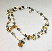 Украшения handmade. Livemaster - original item Necklace of citrine and labradorite. Handmade.