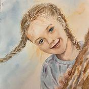 Картины и панно handmade. Livemaster - original item Portrait of a girl, watercolor. Handmade.