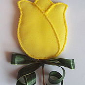 """Сувениры и подарки ручной работы. Ярмарка Мастеров - ручная работа """"Пряничный тюльпан"""". Handmade."""