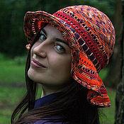 Аксессуары ручной работы. Ярмарка Мастеров - ручная работа Шляпа оранжево-фиолетовая. Handmade.