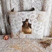 """Классическая сумка ручной работы. Ярмарка Мастеров - ручная работа Льняная сумка """"Нежный образ"""". Handmade."""