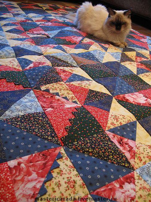 """Текстиль, ковры ручной работы. Ярмарка Мастеров - ручная работа. Купить Лоскутное одеяло """"для мамы"""". Handmade. Лоскутное одеяло"""