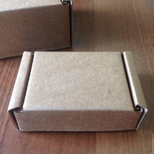 Упаковка ручной работы. Ярмарка Мастеров - ручная работа. Купить Коробка крафт 9х7х3 см.. Handmade. Коробка, коробка картонная