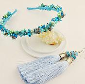 Украшения ручной работы. Ярмарка Мастеров - ручная работа нежно голубой комплект. Handmade.