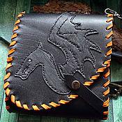 Сумки и аксессуары handmade. Livemaster - original item Small leather handbag Dragon 1. Handmade.