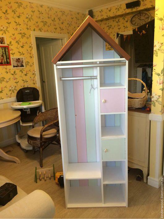 Детская ручной работы. Ярмарка Мастеров - ручная работа. Купить Шкаф-домик. Handmade. Комбинированный, мебель для девочки, Шкафчик