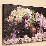 Фотокартины ручной работы. Ярмарка Мастеров - ручная работа Фотокартины: Сирень на холсте. Handmade.