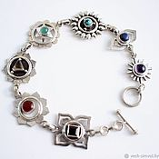 Украшения handmade. Livemaster - original item Bracelet imaging 7 chakras. Handmade.